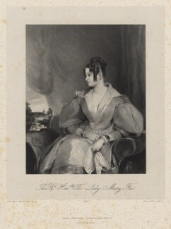Lady Mary Fox (née FitzClarence), by Richard James Lane, printed by  Graf & Soret, published by  Joseph Dickinson, after  Gilbert Stuart Newton - NPG D22216