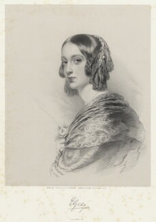 Lady Elizabeth Dorothy Anne Georgiana Grey (née Howard), by Richard James Lane, printed by  M & N Hanhart, after  George Dodgson Tomlinson - NPG D22220