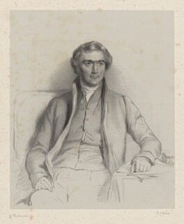 Joseph John Gurney, by Richard James Lane, after  George Richmond, 1847 - NPG D22223 - © National Portrait Gallery, London