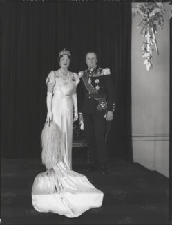 Princess Martha of Sweden; Olav V, King of Norway, by Hay Wrightson - NPG x126943