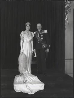 Princess Martha of Sweden; Olav V, King of Norway, by Hay Wrightson - NPG x126944