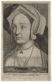 Queen Mary I when Princess Mary, after Hans Holbein the Younger - NPG D17826