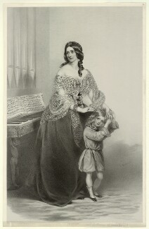 Mrs Holloway, by Richard James Lane, printed by  M & N Hanhart, after  Richard Buckner - NPG D22235