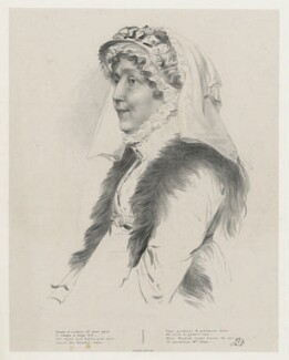 Mrs Hume, by Richard James Lane, printed by  Graf & Soret - NPG D22238