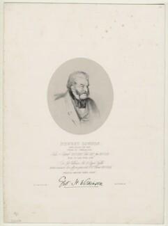 Newby (Newbey) Lowson, by Richard James Lane, printed by  M & N Hanhart, after  Henry John Wilkinson - NPG D22250