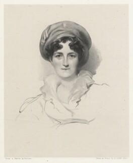 Jane (née Mildmay), Lady St John-Mildmay, by Richard James Lane, after  George Henry Harlow - NPG D22257