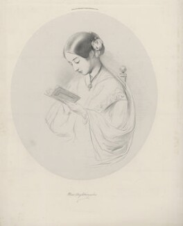 Florence Nightingale, by Richard James Lane, printed by  Day & Son, published by  Paul and Dominic Colnaghi & Co, after  Joanna Hilary Bonham Carter, after  John Pinches, published 28 November 1854 - NPG D22261 - © National Portrait Gallery, London
