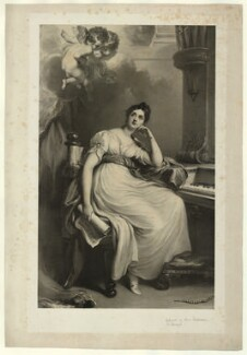 Elizabeth Williams (née Currie) St Cecilia, by Richard James Lane, after  Sir Thomas Lawrence, and after  William Hilton - NPG D22301