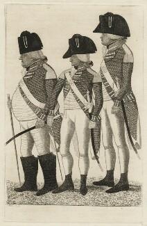 Major Clarkson; Francis Napier, 8th Lord Napier of Merchistoun; Major Pilmer, by John Kay - NPG D20511