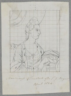 Lady Elizabeth Russell (née Keppel), Marchioness of Tavistock, by Henry Bone, after  Sir Joshua Reynolds - NPG D17210