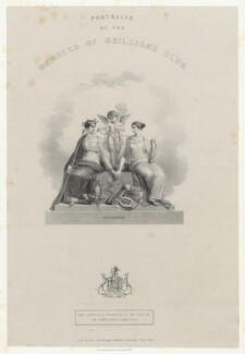 'Portraits of the members of the Grillion's Club', by Richard James Lane, printed by  Engelmann, Graf, Coindet & Co, after  Henry Corbould - NPG D22514