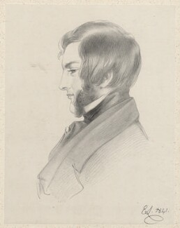 Francis Cynric Sheridan, by Richard James Lane, after  Edwin Landseer, 1841 - NPG D22523 - © National Portrait Gallery, London