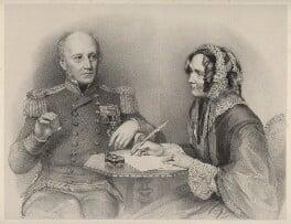William Henry Smyth; Annarella Smyth (née Warington), by Richard James Lane, after  Eden Upton Eddis - NPG D22527