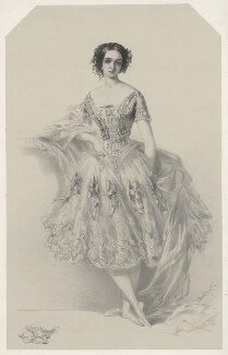 Adeline Plunkett, by Richard James Lane, printed by  M & N Hanhart, published by  John Mitchell, after  Richard Buckner - NPG D22532