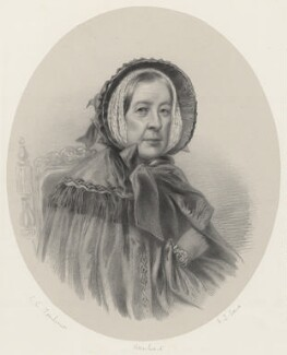 Henrietta Elizabeth ('Harriet') Leveson-Gower (née Cavendish), Countess Granville, by Richard James Lane, printed by  M & N Hanhart, after  George Dodgson Tomlinson - NPG D22533