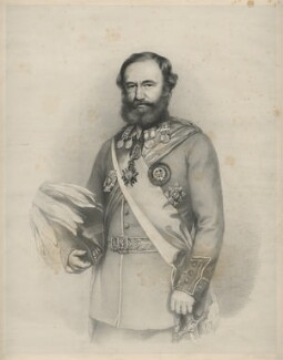 Sir James Outram, 1st Bt, by Richard James Lane, after  Thomas Brigstocke, circa 1863 - NPG D22540 - © National Portrait Gallery, London