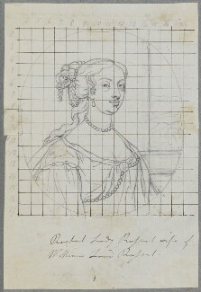 Rachel Russell (née Wriothesley), Lady Russell, by Henry Bone, possibly after  Samuel Cooper - NPG D17212