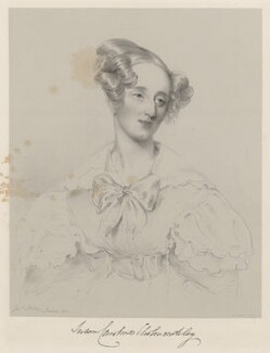 Marcia Emma Georgiana (née Arbuthnot), Marchioness of Cholmondeley, by Richard James Lane, after  Joseph Slater - NPG D22359