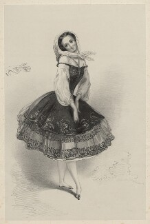 Pauline Duvernay (Yolande Marie Louise de Varnay), by Richard James Lane, after  Alfred Edward Chalon - NPG D22379