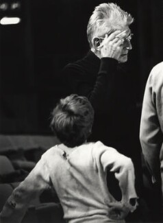 Samuel Beckett and an unknown boy, by John Minihan - NPG x29002