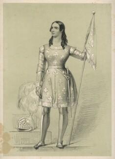 Fanny Huddart as Joan of Arc, by Richard James Lane - NPG D22393