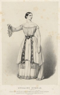 Adelaide Kemble, by Richard James Lane, printed by  M & N Hanhart, published by  John Mitchell - NPG D22399