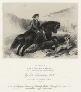 Lord Cosmo George Russell, by Richard James Lane, printed by  Engelmann & Co, published by  Joseph Dickinson, after  Edwin Landseer - NPG D22410