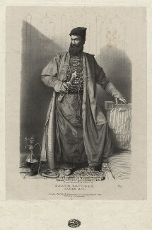 Sadik Beg ('Saith Satoore Sadek Beg'), by Richard James Lane, printed by  Charles Joseph Hullmandel, published by  Rudolph Ackermann - NPG D22411