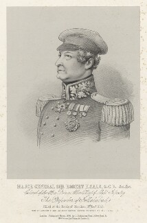 Sir Robert Henry Sale, by Richard James Lane, printed by  M & N Hanhart, published by  Joseph Dickinson - NPG D22412