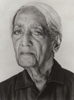 Jiddu Krishnamurti, by Derry Moore, 12th Earl of Drogheda, 1985 - NPG x126975 - © Derry Moore