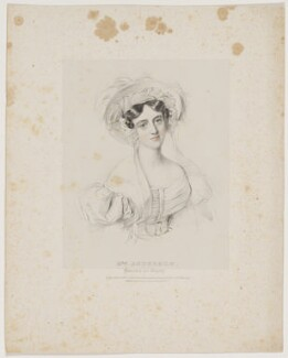 Lucy Anderson (née Philpot), by Richard James Lane, published by  Joseph Dickinson, after  Johannes Notz, published March 1834 - NPG D16194 - © National Portrait Gallery, London