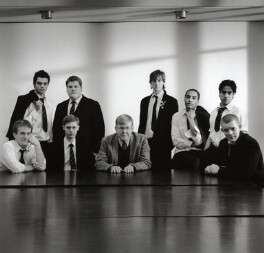 Alan Bennett and the cast of 'The History Boys', by Derry Moore, 12th Earl of Drogheda, 2004 - NPG x126978 - © Derry Moore