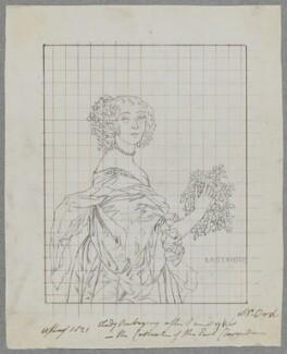 Katherine Livingston (née Howard), Viscountess Newburgh, by Henry Bone, after  Sir Anthony van Dyck - NPG D17227