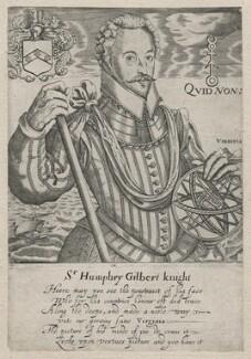 Sir Humphrey Gilbert, by Robert Boissard, circa 1590-1603 - NPG  - © National Portrait Gallery, London