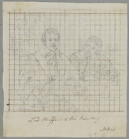 Thomas Wentworth, 1st Earl of Strafford and Sir Philip Mainwaring, by Henry Bone, after  Sir Anthony van Dyck - NPG D17235