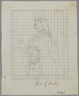 James Stanley, 7th Earl of Derby, by Henry Bone, after  Sir Anthony van Dyck - NPG D17237
