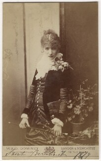 Sarah Bernhardt, by W. & D. Downey, 1879 - NPG x144186 - © National Portrait Gallery, London