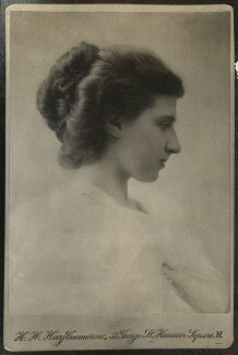 Lady Ottoline Morrell, by Henry Herschel Hay Cameron (later The Cameron Studio) - NPG Ax140003