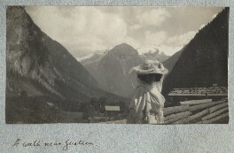 Lady Ottoline Morrell ('A walk near Gastein'), by Philip Edward Morrell - NPG Ax140006