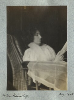 Lady Ottoline Morrell ('In the Kaiserhof'), by Philip Edward Morrell - NPG Ax140008