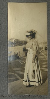 Lady Ottoline Morrell ('Outside Santa Maria della Salute'), by Philip Edward Morrell - NPG Ax140017