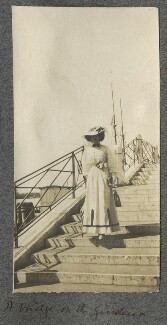 Lady Ottoline Morrell ('A bridge on the Guidecca'), by Philip Edward Morrell - NPG Ax140031
