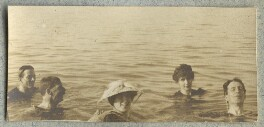 Lady Ottoline Morrell with friends, by Unknown photographer - NPG Ax140046