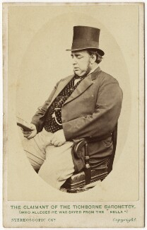 'The Claimant of the Tichborne Baronetcy (who alleges he was saved from the 'Bella')' (Arthur Orton), by London Stereoscopic & Photographic Company, circa 1871 - NPG x127025 - © National Portrait Gallery, London