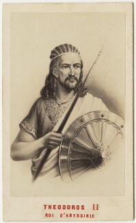 King Téwodros (Theodore) II of Abyssinia, by Neurdein, 1860s - NPG x127029 - © National Portrait Gallery, London