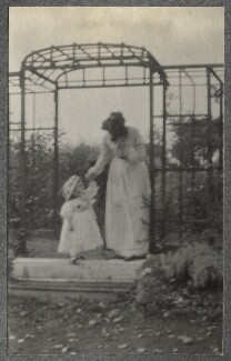 Julian Vinogradoff (née Morrell); Lady Ottoline Morrell, by Philip Edward Morrell - NPG Ax140083