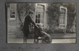 (Lloyd) Logan Pearsall Smith; Hannah Tatum Smith (née Whitall), by Lady Ottoline Morrell - NPG Ax140104