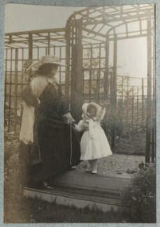 Lady Ottoline Morrell; Julian Vinogradoff (née Morrell), by Philip Edward Morrell - NPG Ax140112