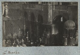 Interior of St Mark's Basilica, by Lady Ottoline Morrell - NPG Ax140047