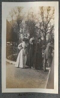 Lady Ottoline Morrell; Emily Chadbourne; Dorelia McNeill; Augustus John, possibly by Philip Edward Morrell - NPG Ax140133